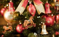 Colorful Christmas ornaments wallpaper 31208
