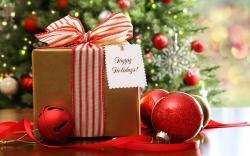Christmas Tree Balls Gift Winter HD Wallpaper