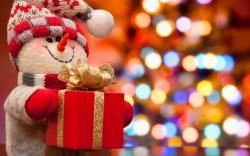 Christmas Tree Snowman Gift New Year