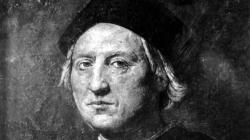 This is an undated portrait of Italian explorer Christopher Columbus attributed to Rodolfo Ghirlandaia. The