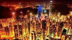 Lightful City at Night
