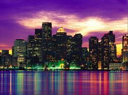 Dynamic City Colorful Light