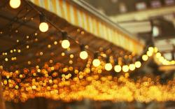 City Light Bulbs Lamps Bokeh