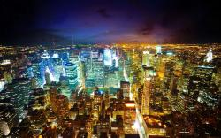 City Light New York Skyline wallpaper.