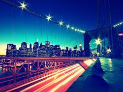 light water blue red bridges city lights cities