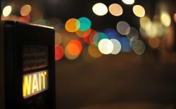 City Wait Close-Up Lights Night Bokeh