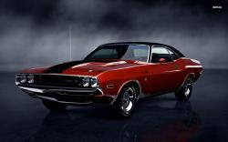 Wallpaper Dodge Orange Dodge Challenger Rt Classic Cars Car Memes #13