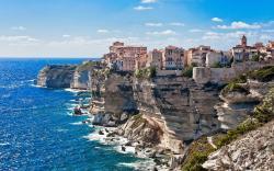 Cliff shore of Corsica