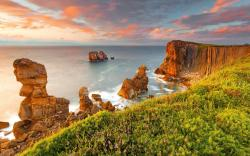 Earth - Cliff Landscape Scenic Ocean Sand Sunset Sky Cloud Nature HDR Wallpaper