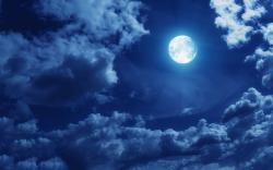 Clouds full moon