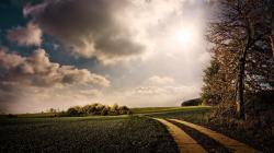 Cloudy Landscape Wallpaper in 1920x1080 HD Resolutions