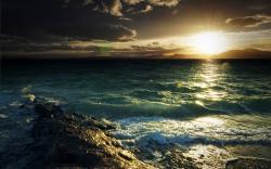 Coast evening sun