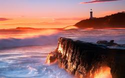 Coast Lighthouse Sunset