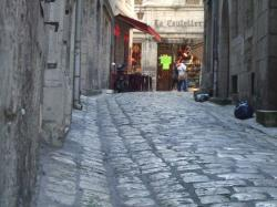 A Cobblestone Street In Old Perigueux photos, wallpapers