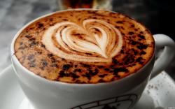 Coffee Heart Cream Wallpaper in 1920x1200 Widescreen