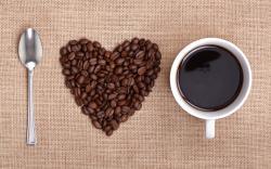 Heart Coffee Wallpaper
