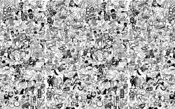 wallpaper. eclectic wallpaper, love, random animals, animal collage