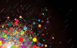 Color dots explosion