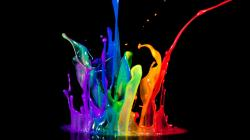 Neon color splash wallpaper