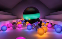 Colored light balls