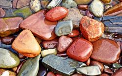 Colored wet Stones