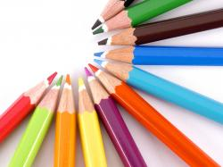 Download Colored pencils, Pencil, Semi-circle, Bright, Colorful Wallpaper, Background