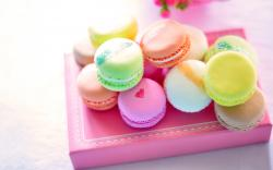 Beautiful Colorful Macarons Wallpaper Background Wallpaper