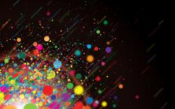 Color dots explosion