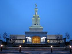 Photograph of the Columbia River Washington Mormon Temple