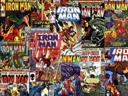 Vintage Comics Iron Man Desktop Wallpaper