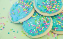 Soft Sweet Sugar Cookies HD Wide Wallpaper for Widescreen
