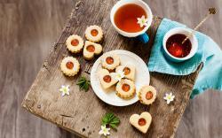 Cookies Sweets Flowers Drink Tea