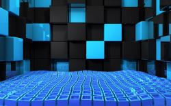 Cool 3D Cubes Twitter Background Wallpaper
