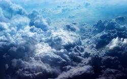 Clouds Wallpaper: Cool Blue Clouds Desktop Wallpaper 1680x1050px
