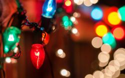 Colorful Garland Lights Wallpaper