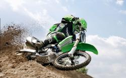 kawasaki motocross stunt high resolution wallpaper