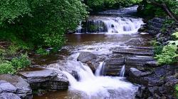The Endless Flow Beauty Cool Rocks Stream Trees Water - 1366x768 iWallHD - Wallpaper HD