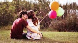 ... Couple with balloons wallpaper 1920x1080 ...