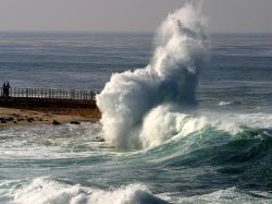 waves crashing seals la jolla