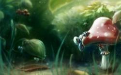 Creatures Forest Mushroom Fantasy Art