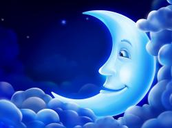 animated crescent moon image