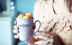 Cup Breakfast Cookies Girl Mood
