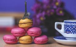 Cup Mug Cookies Macaroon Macaron Sweets Eiffel Tower