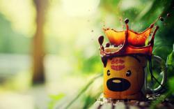 Cup Teddy Bear Coffee Spray Splash
