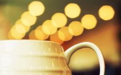 Cup White Bokeh