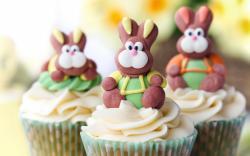 Cupcakes Bunnies Cream Dessert