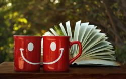 Cups Drawing Smile Book Mood