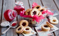 Cute Jam Biscuits