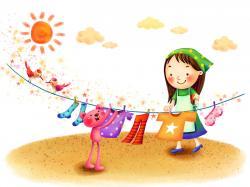 Cute Cartoon Girl Wallpaper: Korean Cartoon Wallpaper Hdwidescreens 1600x1200px