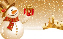 Free Cute Christmas Snowman wallpaper